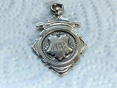 Vintage Sterling Silver Fob Medal by Birm Maker Thomas Fattorini & Sons 1920