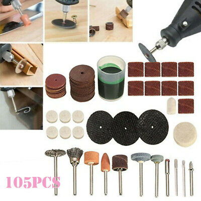 105x/set Mini Electric Drill Grinder Rotary Tool Grinding Polishing-Kit New GZN