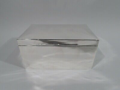 Victorian Box - Antique Edwardian - English Sterling Silver - Mappin & Webb 1899