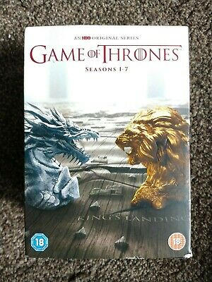 Game Of Thrones Season 1-7 DVDs (34) & map of Westeros