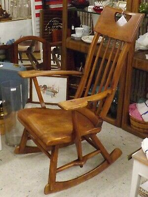 Sikes Arts and Crafts Maple Rocking Chair  Good Condition  Sikes Chair Company