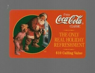 1990's Sprint Coke Seasons Greetings Santa Claus Collectible Prepaid Phone Card