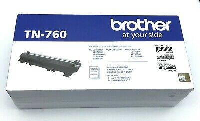 BROTHER TN-760 Black High Yield Toner Cartridge Genuine OEM Original