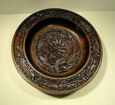 Carved Wooden Bowl / Wall Plaque