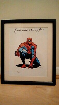 Signed Spiderman drawing by Simon Bisley