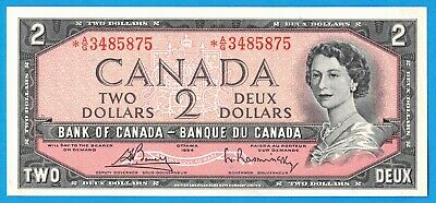 $2 1954 Bank of Canada Note *A/G Replacement BC-38cA - $80 - Choice UNC