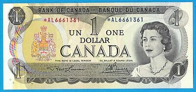 $1 1973 Bank of Canada Note *AL Replacement BC-46aA - $26 - AU/UNC