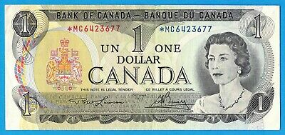 $1 1973 Bank of Canada Note *MC Replacement BC-46aA - EF