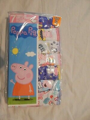 Peppa Pig Girls Underwear Figures NEW 7-Pack Lot Briefs Panties 2T/3T Toddler
