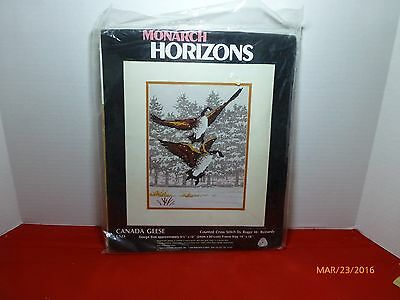 Canada Geese 1984 Counted Cross Stitch Kit Roger Reinardy Horizons Designs