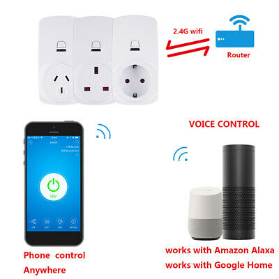 16A Smart WiFi Remote Control Timing Switch Socket Outlet Plug for Alexa IFTTT