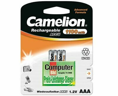 2x Camelion Batterie Rechargeable Micro AAA 1100mAh Siemens Gigaset C1 AS28H