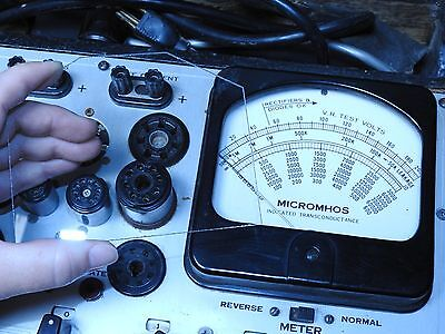 New Hickok 539B/C Tube Tester Replacement Meter Glass