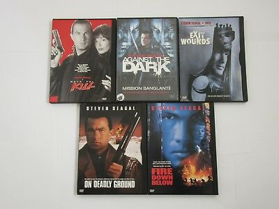 DVD Steven Seagal Five Movies, On Deadly Ground, Fire Down Below, Exit Wounds