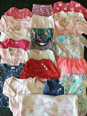 Bulk Baby Girls Clothes - Size 000 - Preloved - 25 item - Target Marquise Esprit