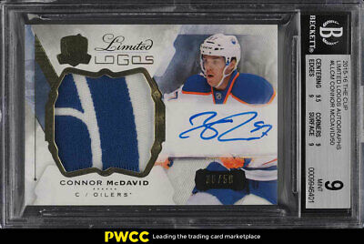 2015 The Cup Limited Logos Connor McDavid ROOKIE RC AUTO PATCH /50 BGS 9 (PWCC)