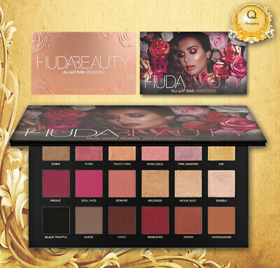 Huda Beauty Rose Gold Remastered Textured 18 Colours Eyeshadow Palette New