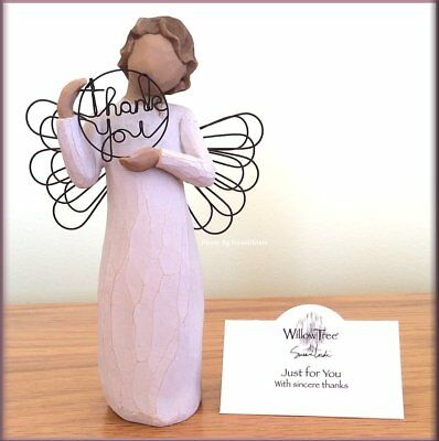 """Just for You Thank You Angel from Willow Tree® Angels 5.5"""" High Free U.S. Ship"""