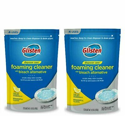 Glisten DP06N PB Care Foaming Garbage Disposer Cleaner 4.9 Ounces 4 ct 2 pack