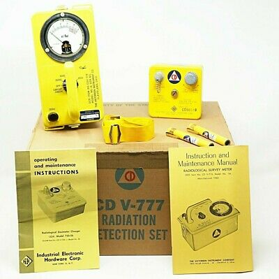 Civil Defense CD V-777 Radiation Detection Set Geiger Counter Dosimeter V-750