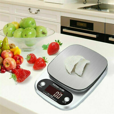 Balance Diet Food Weight 10KG/1G Electronic Kitchen Scale Stainless Steel New