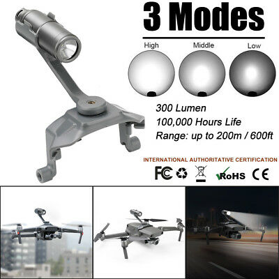 For DJI Mavic 2 Zoom Pro 3Modes LED Super Bright Headlamp Night Fly Accessories