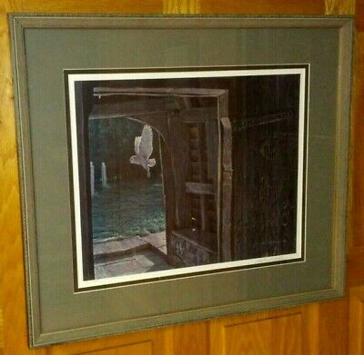 Robert Bateman Barn Owl in the Churchyard Limited Edition Framed Matted Signed