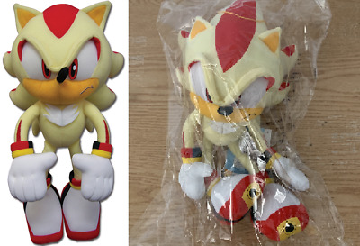 """Ships Next Day GE Great Eastern Sonic The Hedgehog 12"""" Super Shadow Plush"""