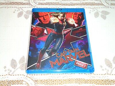 Captain Marvel Disco Blu-Ray con Nuovo e Custodia Ricambio Cover Art * Read