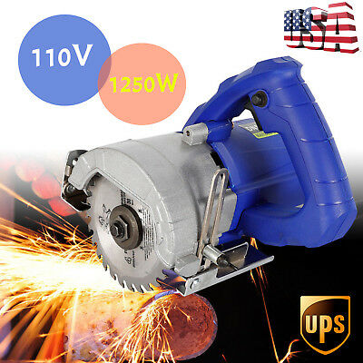 TOP!!Wood metal Cutter Grooving Cutting Machine Ceramic Tile Saw Hand Held 1250W