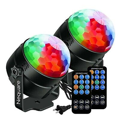 NEQUARE [2-Pack] Party Lights Sound Activated Disco Ball S... - ONE day shipping
