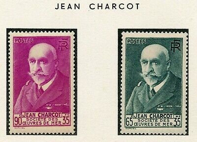 Stamp / Timbre France Neuf N° 377/377A * Charcot