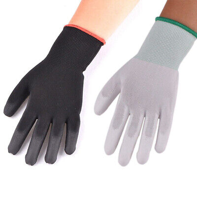 12/24 Pairs Nylon PU Safety Coating Work Gloves Builders Palm Protect S M L