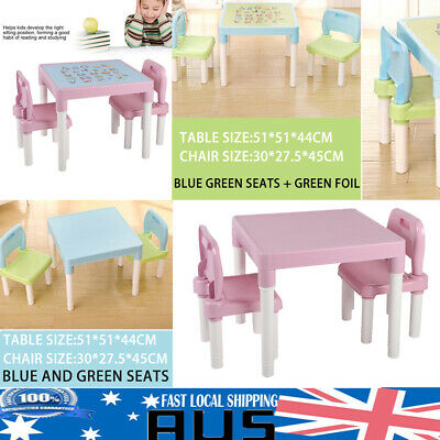 Kids Table and Chairs Set Study Desk Children Furniture Plastic Chair Toys 4type