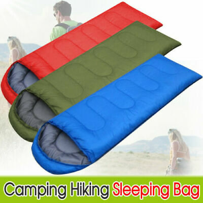 Sleeping Bag Waterproof Single Suit Case Camping Hiking Outdoor Envelope Ic