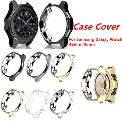 For Samsung Galaxy Watch 42mm 46mm Accessories TPU Plating Protection Case Cover