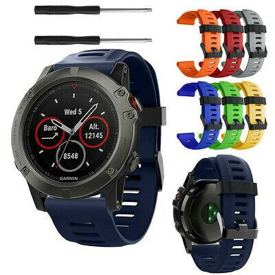 Quick Install For Garmin Fenix3/5X Silicone Fitness Replacement Wrist Band Strap
