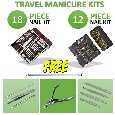 "New 18pcs""12pcs Nail Kit Cuticle Manicure Set Stainless Clippers Grooming Beauty"