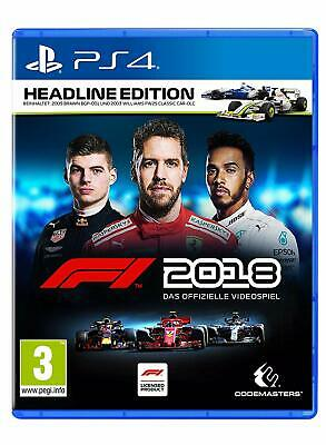 PS4 Gioco F1 2018 Formula 1 18 Headline Edition Merce Nuova