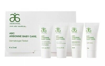 Arbonne Baby Care ABC Travel/ Sample Pack 4x 3ml