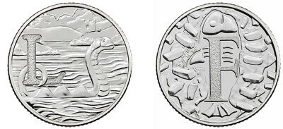 NEW A-Z 2019 Alphabet 10p Coins  LETTERS L & F - Fish & Chips / Loch Ness BNUC