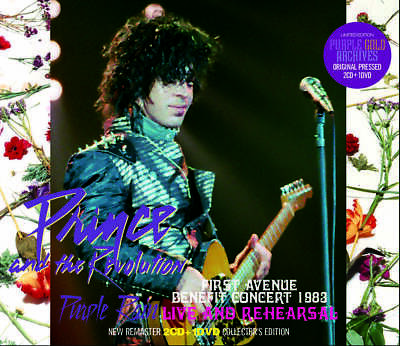PRINCE and THE REVOLUTION PURPLE RAIN LIVE AND REHEARSAL NEW REMASTER 2CD + 1DVD