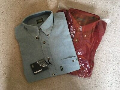 2 Land Rover Official Shirts, Brand New, Blue/Red, Collectable