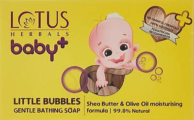 Lotus Herbals Baby Little Bubbles Gentle Bathing Soap White 300g x 3