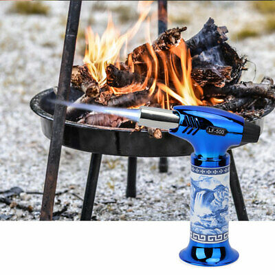 Jet Flame Torch Lighter Burner Windproof Refillable Butane Gas BBQ Stove Igniter