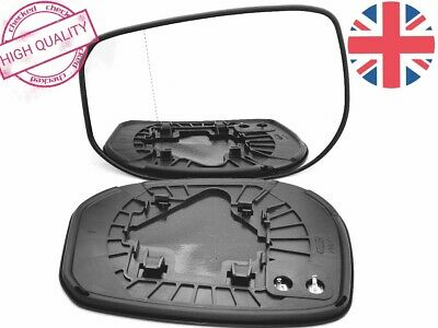 Right Driver Side Heated Mirror Glass for Honda Jazz 2001-2005 0268RSH