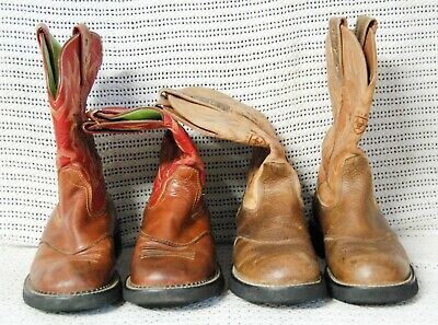 30d239e0418 2 PAIR OF ARIAT Western Cowboy Boots Tombstone & Dakota Dogger BIG ...