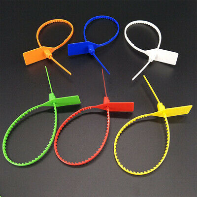 100Pcs Security Tags PP Plastic Numbered Pull Ties Secure Decoration Shoes Seals