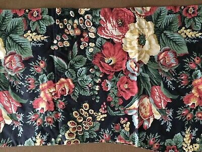 """Blue Orchard French Country Cottage Floral Window Curtain Valance 72 x 21"""""""