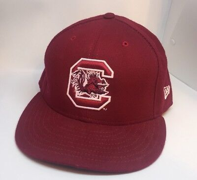 fda3e995d9d826 South Carolina Gamecocks 7 5/8 New Era Authentic 59FIFTY Fitted Cap Hat Red